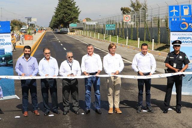 Inaugura Gali rehabilitación de accesos al Aeropuerto Hermanos Serdán