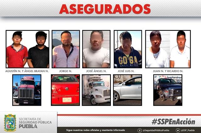 SSP estatal aseguró a 15 personas en vehículos robados