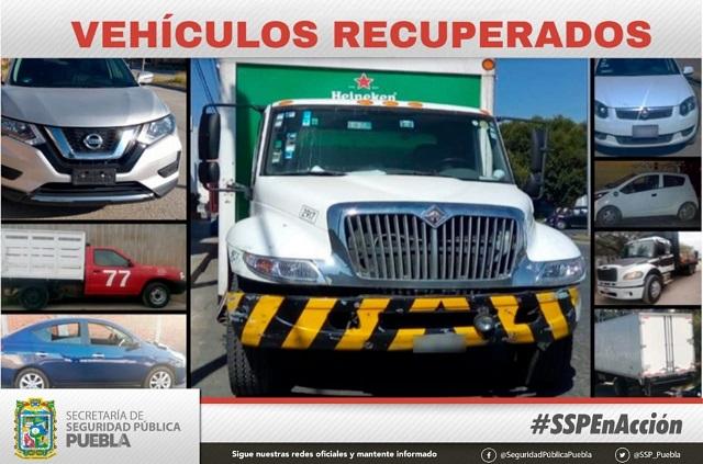 Recuperó SSP estatal 29 unidades con reporte de robo