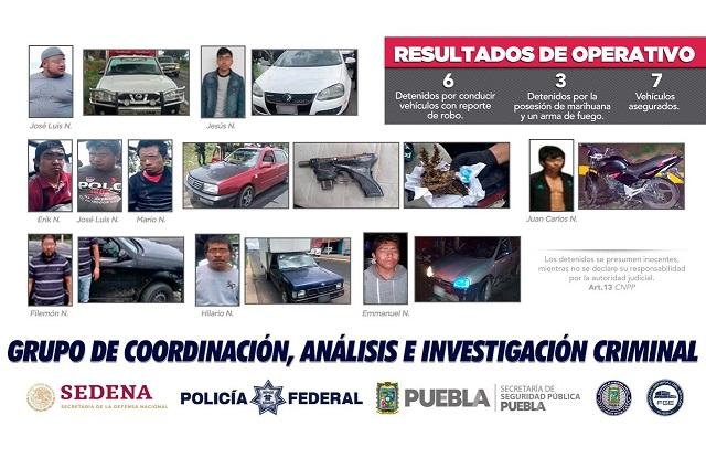 Recuperan vehículos robados en San Martín y Huejotzingo