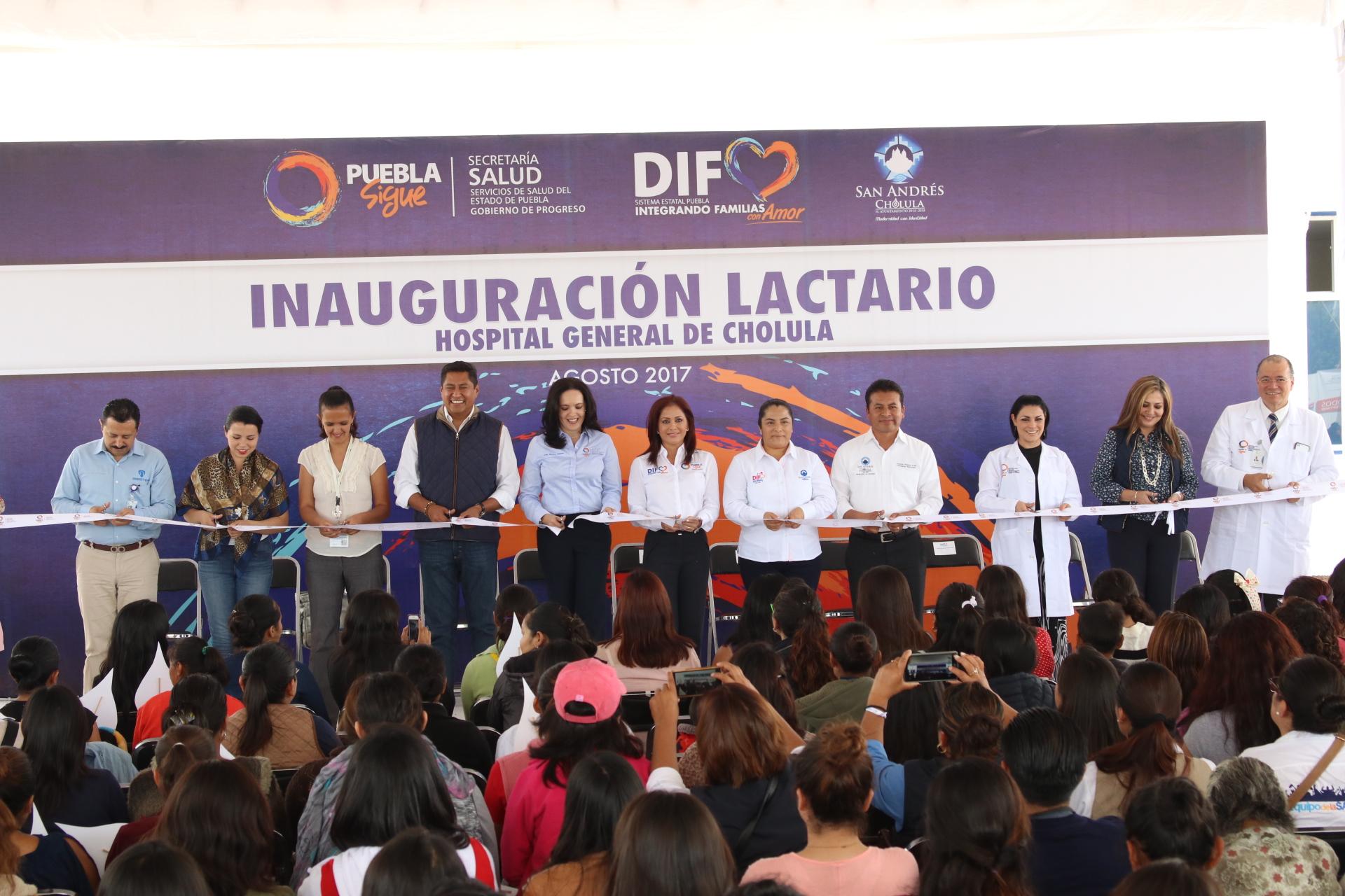 Inauguran lactario en el hospital general de San Andrés Cholula