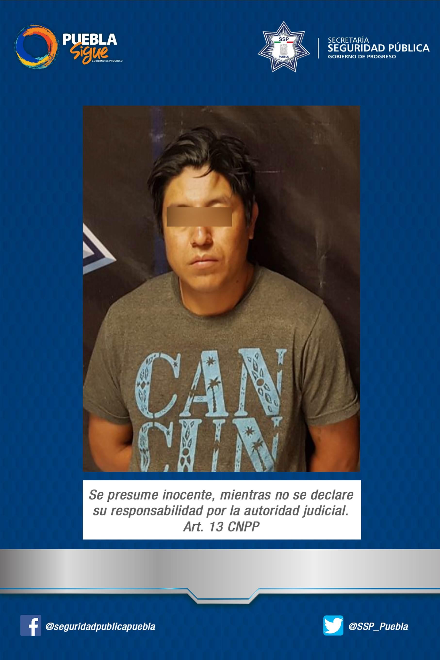 SSP asegura a dos asaltantes en la autopista México – Puebla