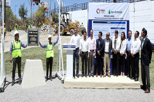 Potabilizadora del Parque Lineal dará beneficios a más de 300 mil poblanos
