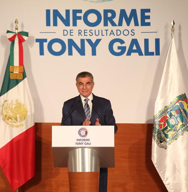 Servir a los poblanos ha sido un honor verdadero: Tony Gali