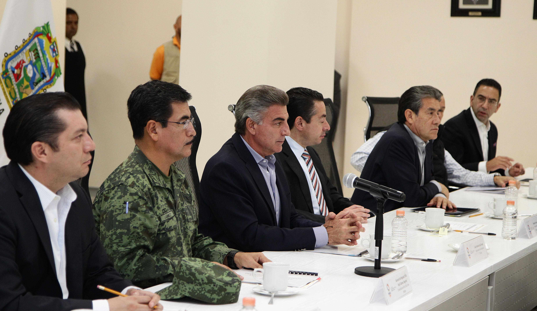 Realizan reunión semanal del Grupo de Coordinación Puebla Segura