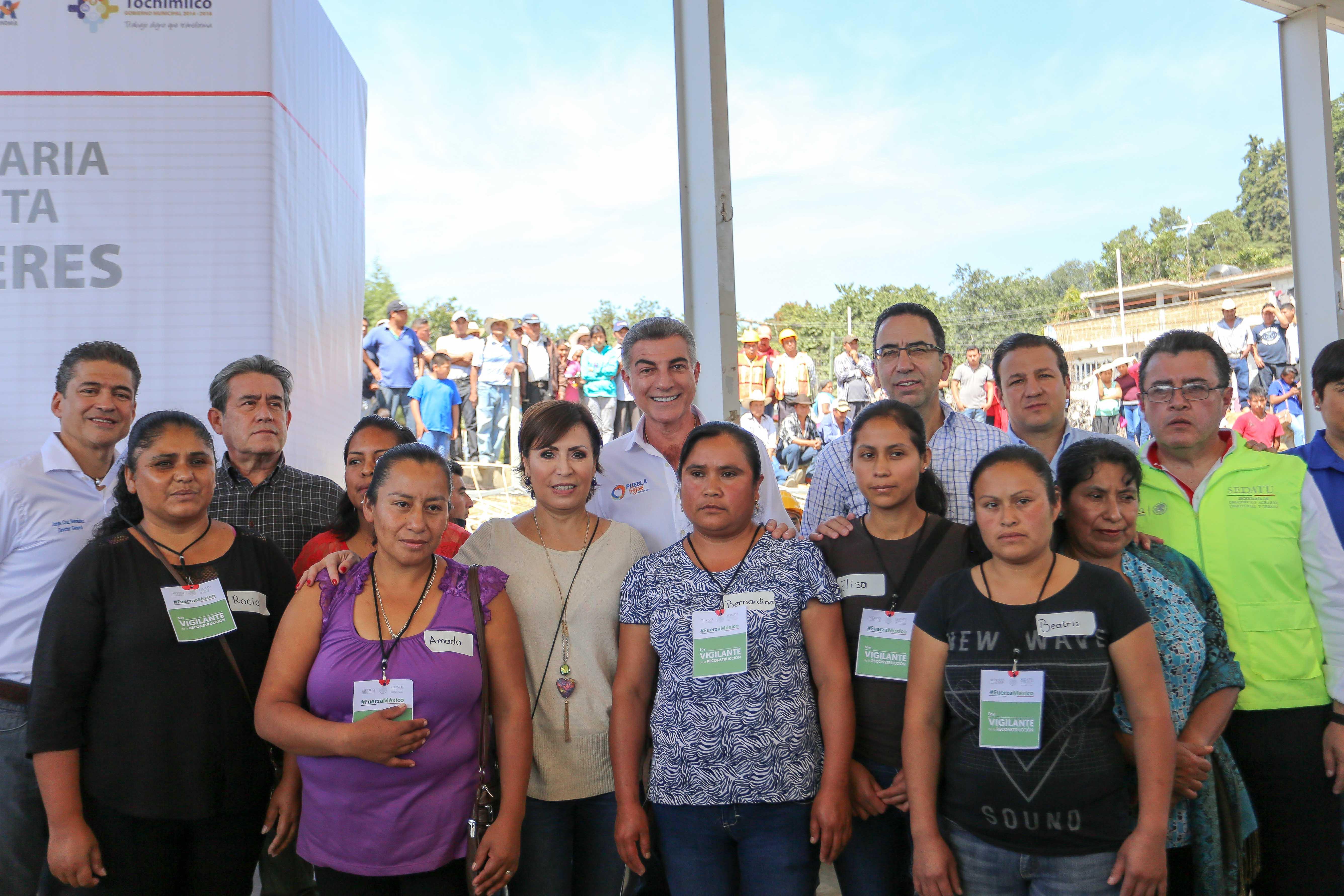 Rosario Robles y Antonio Gali supervisan avances de reconstrucción