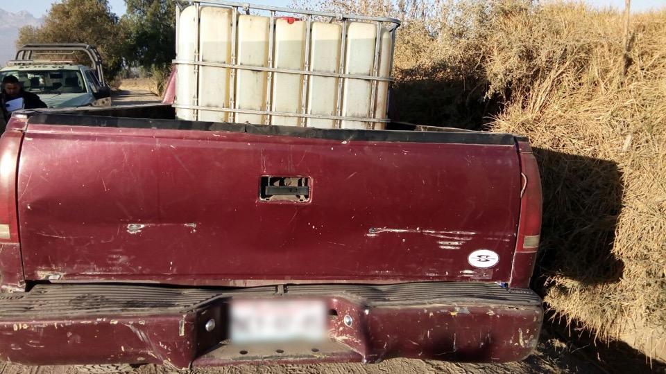Aseguran 6 vehículos usados para traslado de combustible robado