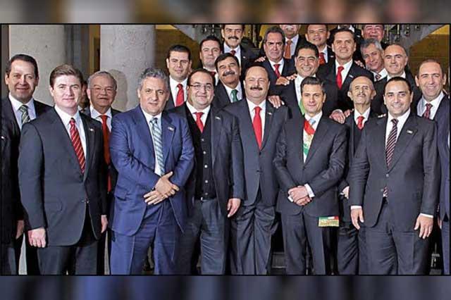 La foto en la que EPN aparece con gobernadores hoy presos o en desgracia