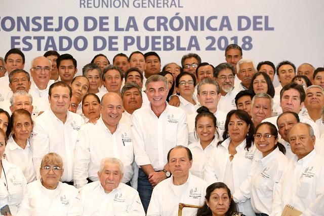 Gobernador Antonio Gali reconoce aportes de cronistas de la entidad