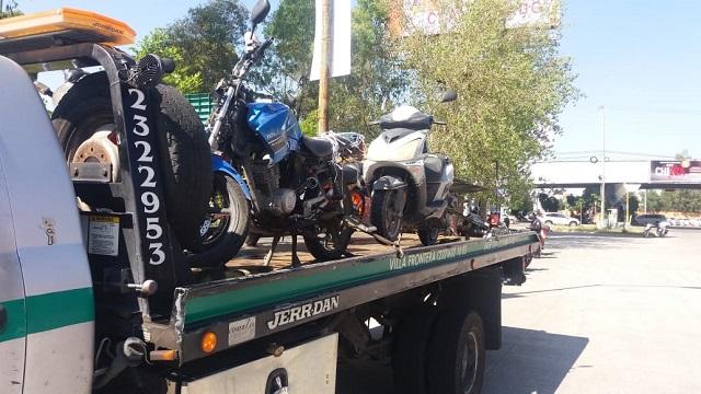 En operativo de revisión vehicular SSP  remite 10 motocicletas