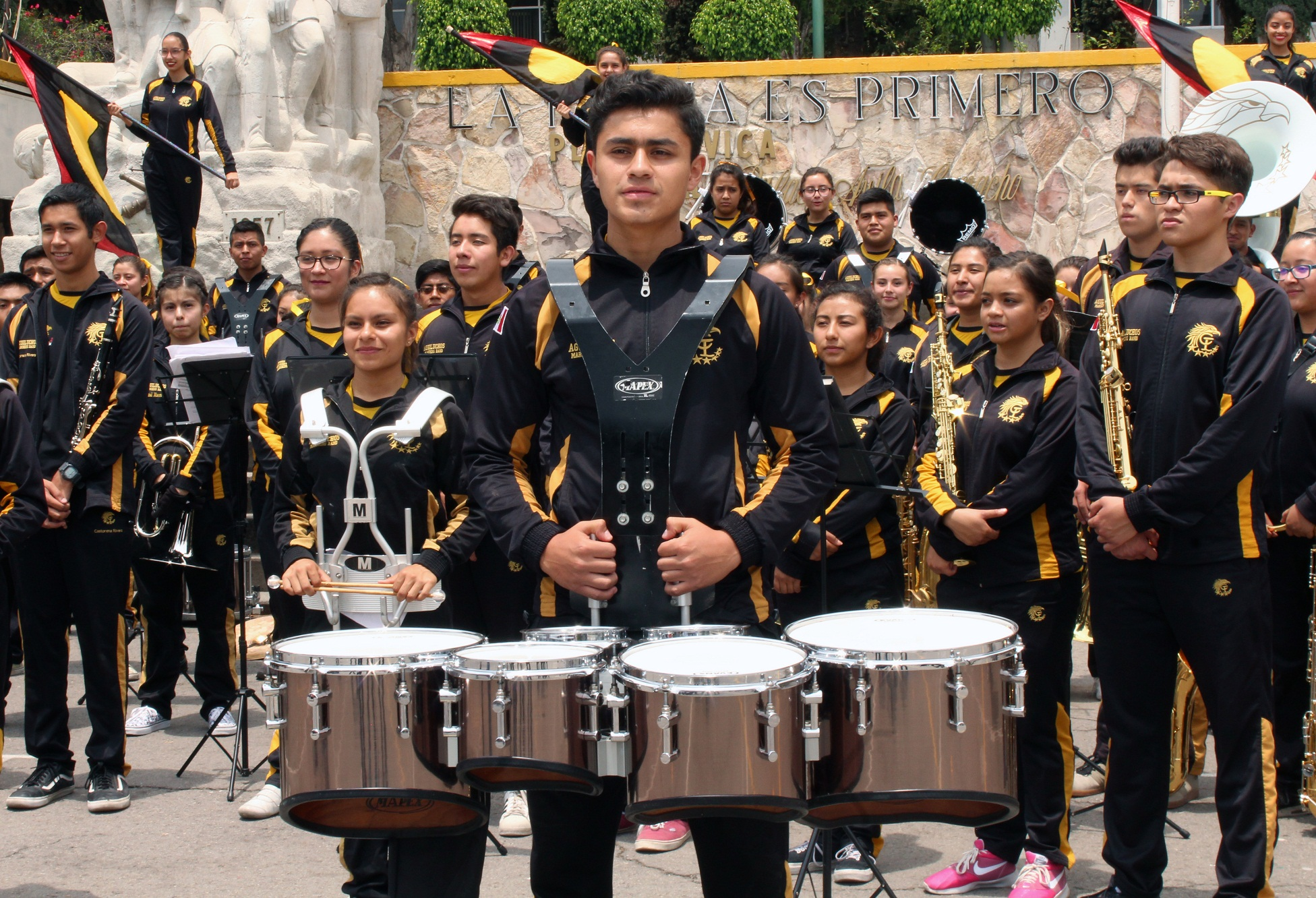 Aguiluchos Marching Band va a Italia a concurso internacional