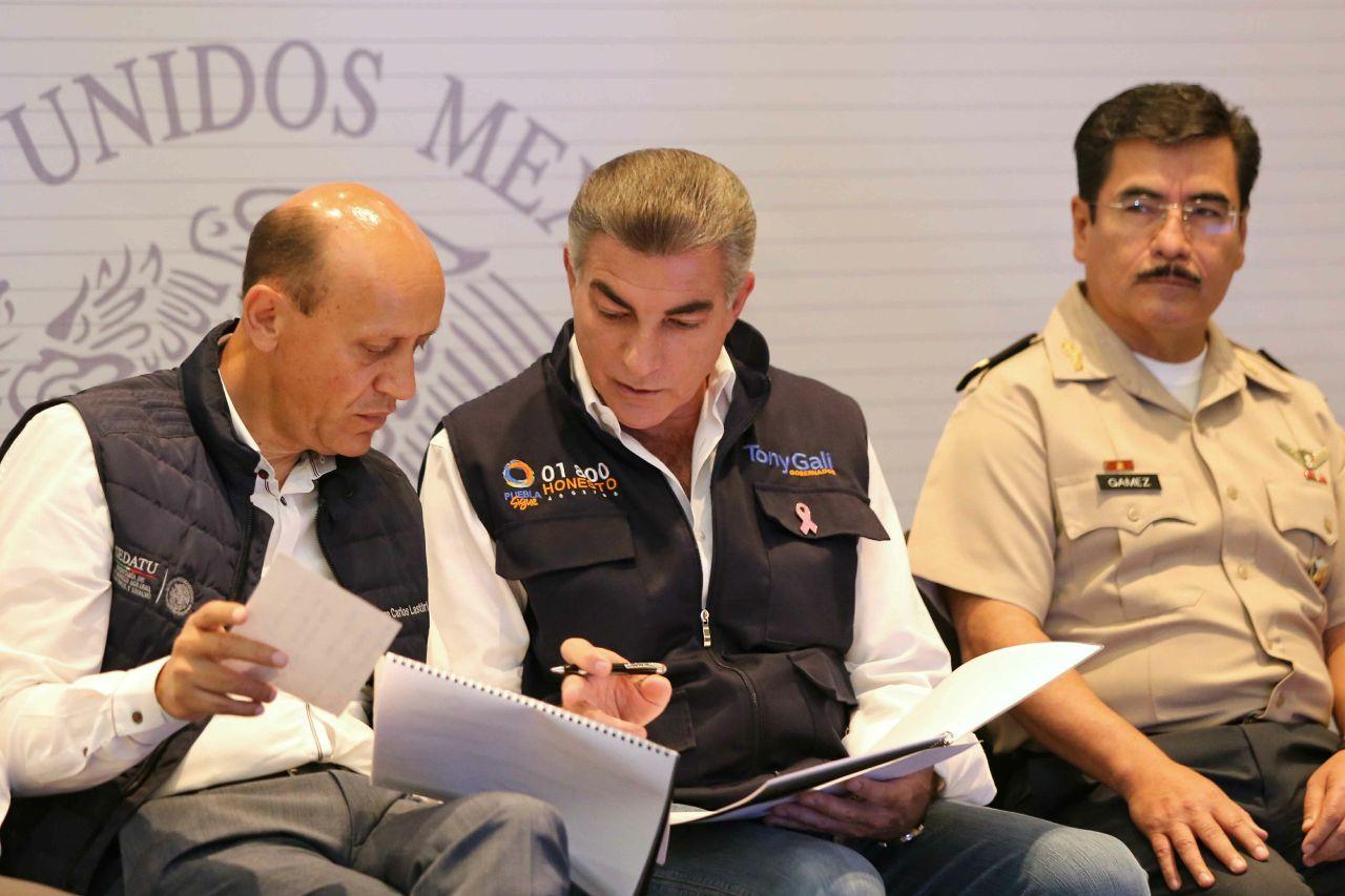 Gali y Lastiri anuncian mil 254 mdp para reconstruir viviendas