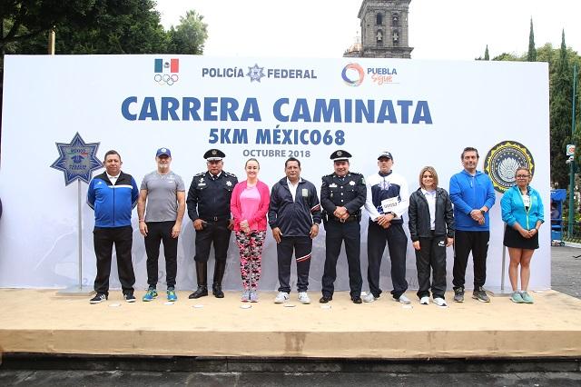 Más de 5 mil poblanos en la Carrera conmemorativa México 68
