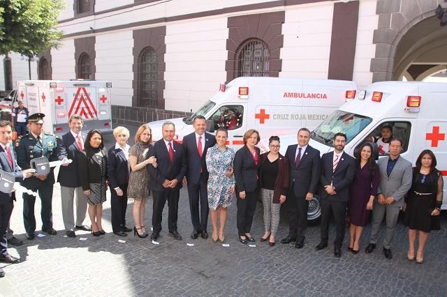 DIF estatal y Cruz Roja Mexicana inician colecta 2019 en Puebla