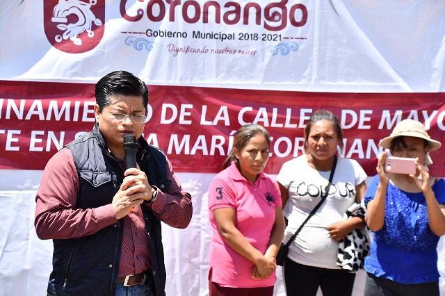 Inicia edil de Coronango obras por 10 mdp en cabecera y juntas auxiliares