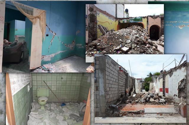 Burlados y robados, poblanos ven sus casas caer a un año del 19S