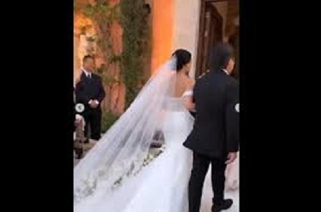 Fotos: Así lució Diana Cazárez en su vestido de novia