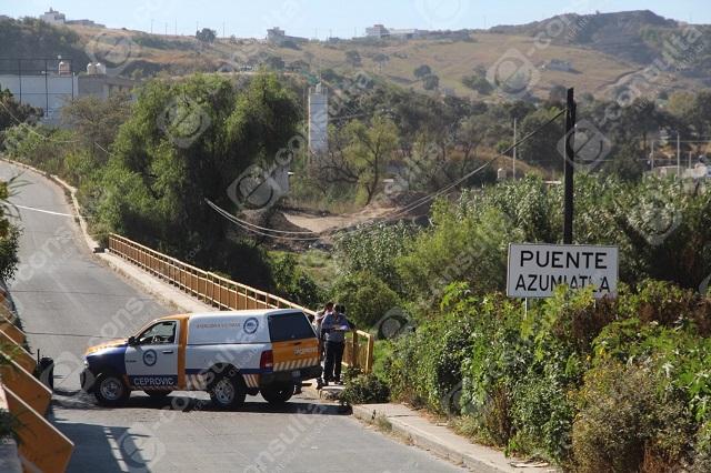 Embolsado del puente del Río Atoyac fue asfixiado