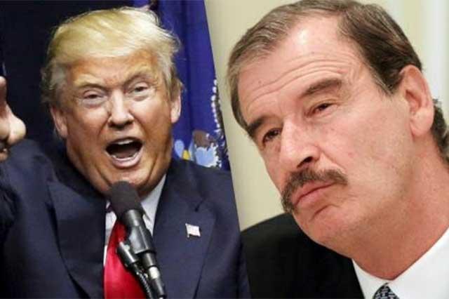 Vicente Fox califica a EPN de visionario por haber invitado a Trump