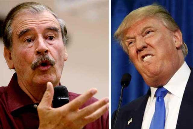 El gobierno no le prohibirá a Vicente Fox que hable de Trump