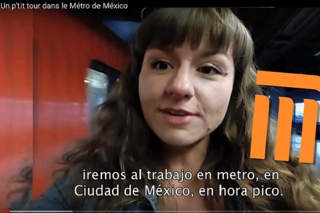 Francesa muestra cómo es viajar en Metro en hora pico