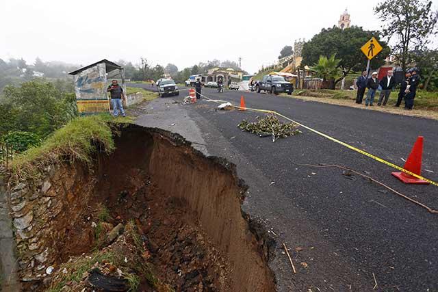 Declaran emergencia en 66 municipios de Puebla por Franklin