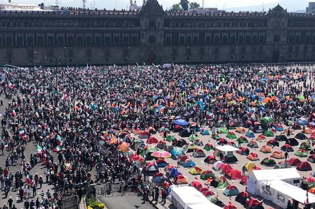Marcha contra AMLO crece; somos 153 mil, presume FRENAAA