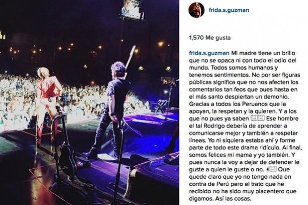 Frida Sofía se une a pleito de Alejandra Guzmán contra conductor