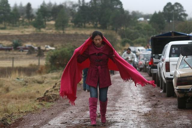Prevén temperaturas de hasta  -1°C en la Sierra Negra de Puebla