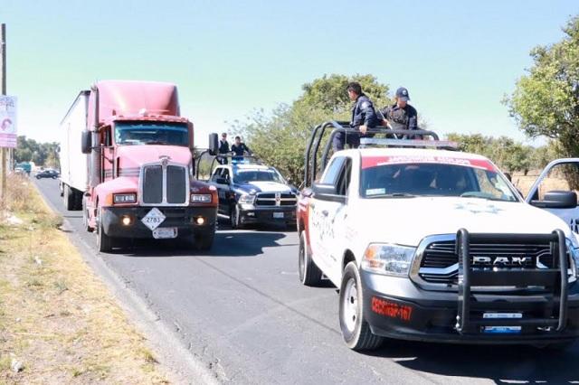 Frustra policía de Huejotzingo robo a transporte de carga