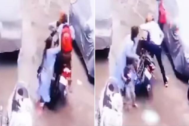 Mujer confronta a sujetos que intentaron secuestrar a su hija