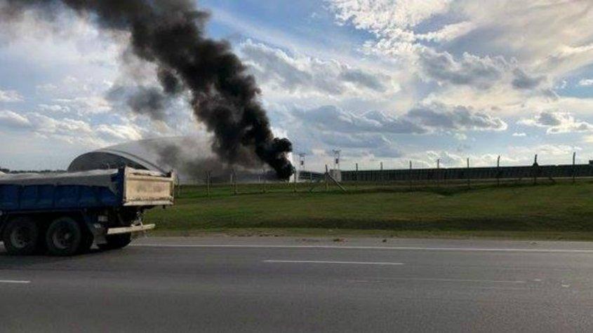 Simulacro de incendio en el aeropuerto Hermanos Serdán