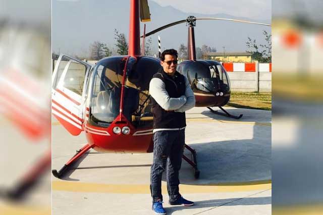 Cristian de la Fuente ahora ofrece servicios de helicópteros