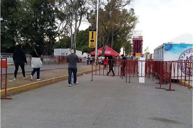 Con pretexto de la Feria impiden libre tránsito en Los Fuertes
