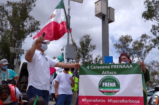 Llega a Los Fuertes la quinta protesta anti AMLO en Puebla