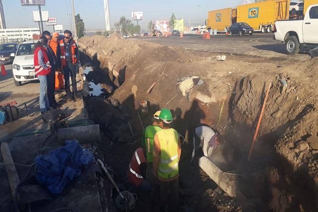 Agua de Puebla abastecerá con pipas a colonias afectadas por fuga