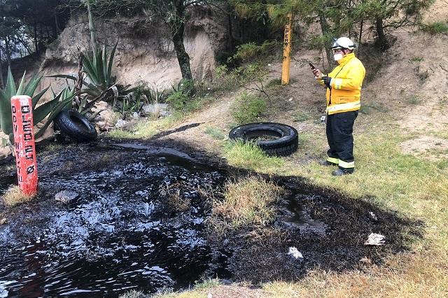 Por fuga se derraman 10 mil litros de petróleo en Esperanza
