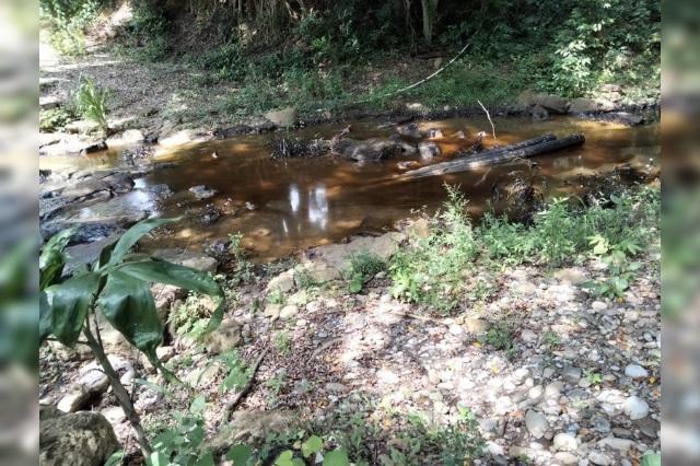 Fuga de hidrocarburo contamina arroyo en Venustiano Carranza