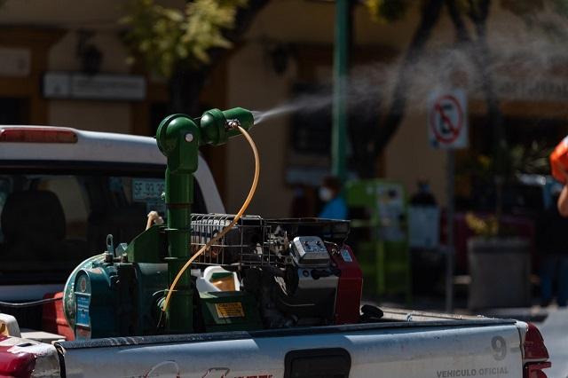 Inicia jornada de fumigación contra el dengue en Tehuacán