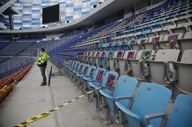 Estadios podrían reabrir al final de octubre: Barbosa