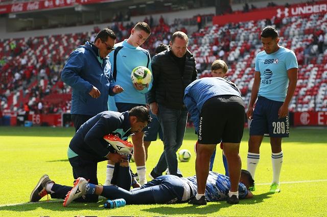 Puebla confirma lesión de Vikonis y mejoría de Pimentel y Torres