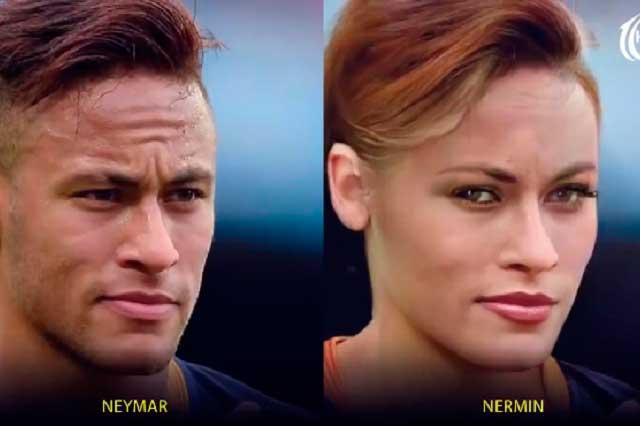 VIDEO ¿Cómo se verían Ronaldo, Messi y Neymar si fueran mujeres?