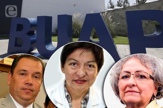 Oficial: Grajales, Cedillo y Paredes van por rectoría de la BUAP