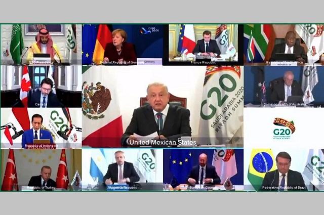 Reducir deuda a los países pobres, plantea AMLO al G-20