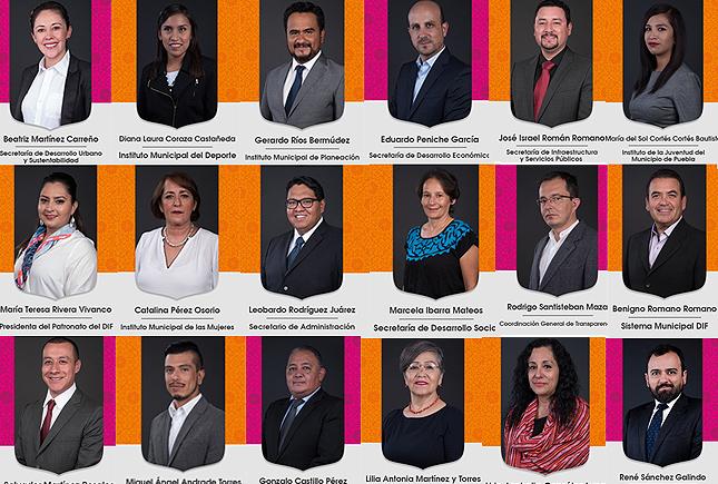 ¿Quiénes son los integrantes del gabinete de Claudia Rivera?