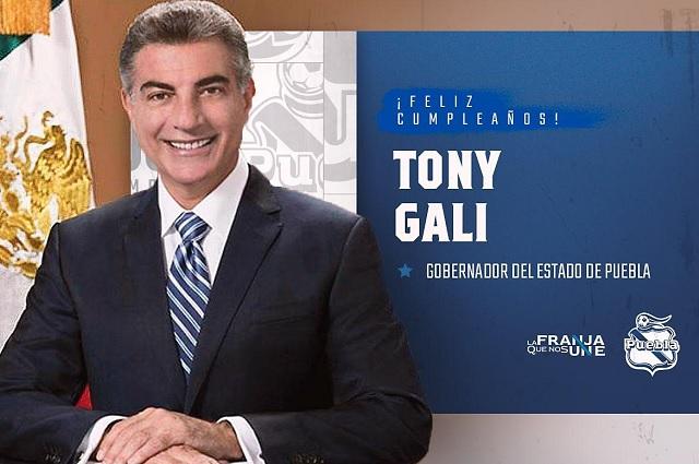 Club Puebla felicita a Tony Gali y le llueven críticas