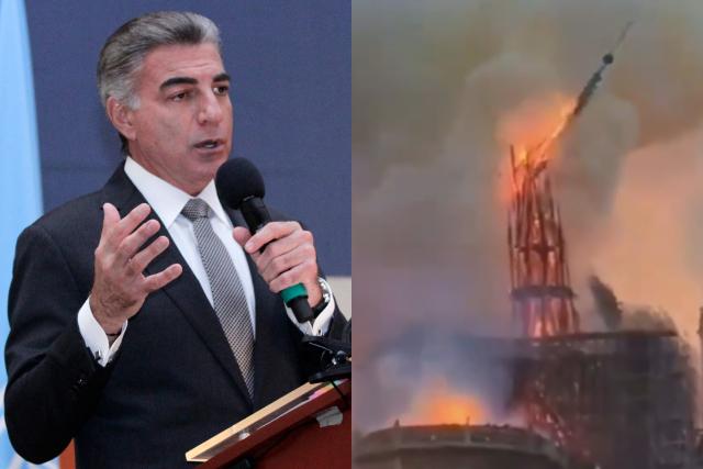 Gali quiere que Puebla colabore con la restauración de Notre Dame