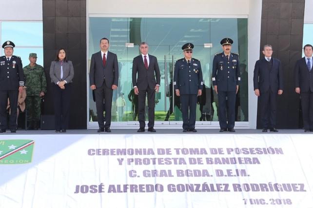 Gali asiste a toma de protesta de comandante de XXV zona militar