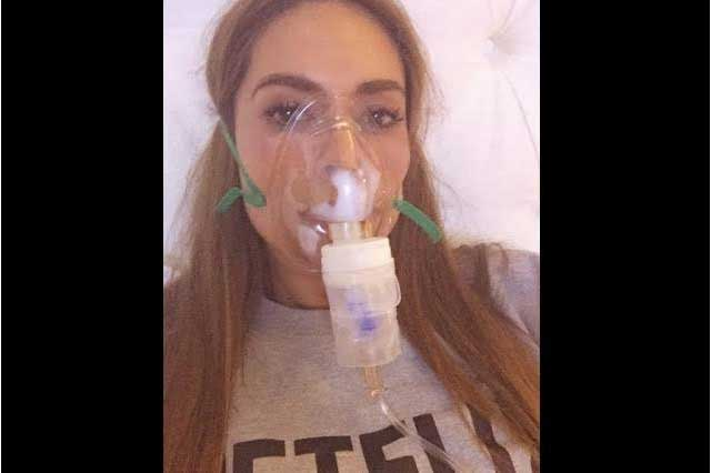 Sufre Galilea Montijo una fuerte gripa que casi es pulmonía