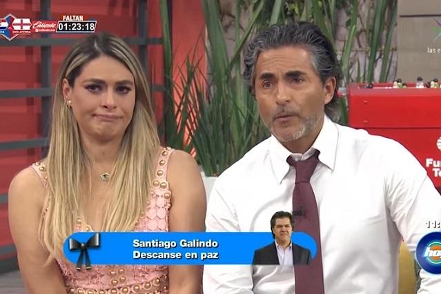 Galilea Montijo llora por la muerte del productor de Televisa Santiago Galindo
